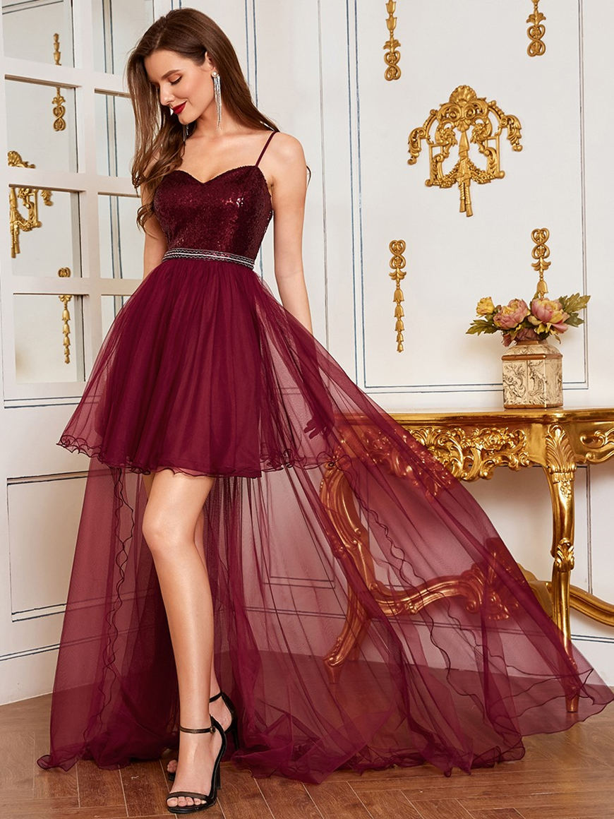 burgundy-mini-prom-dress