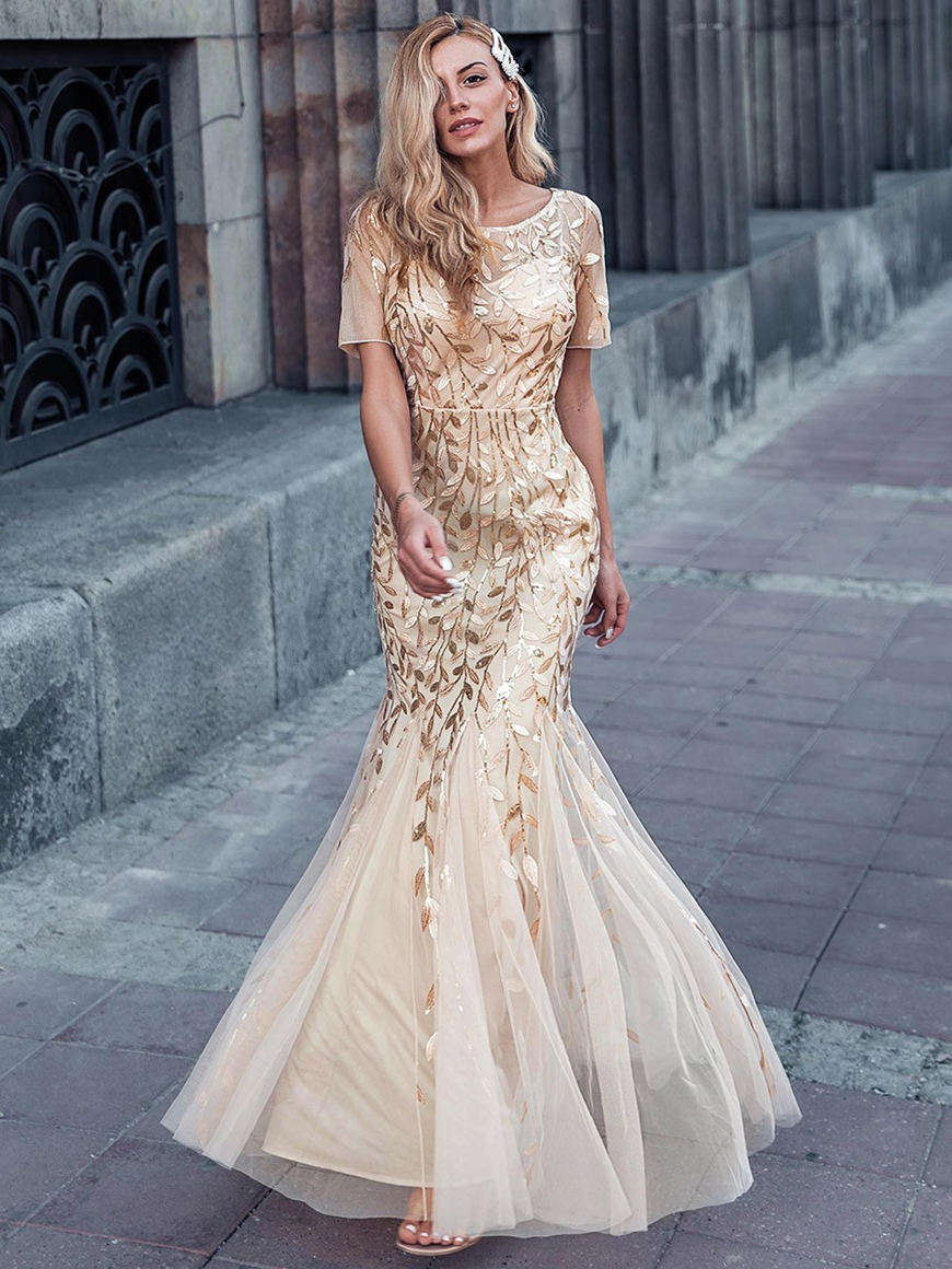 classy-gold-printed-prom-dress