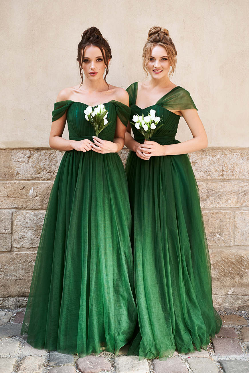 two-bridesmaids-in-off-shoulder-dresses