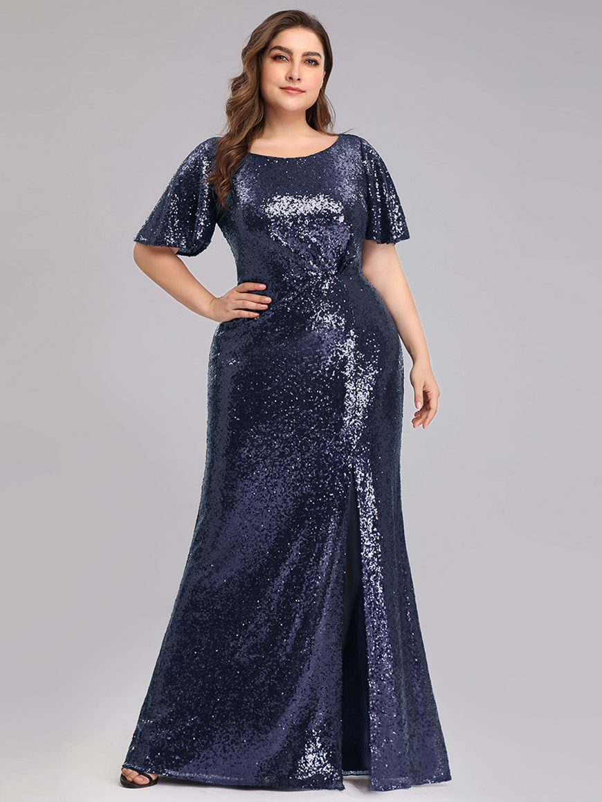 Sexy-Sequined-Cocktail-Dress-with-Side-Slit
