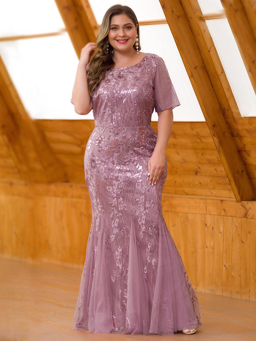 Vibrant-Patterned-Fishtail-Dress