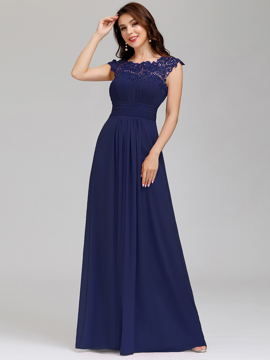 Beautiful-Maxi-Long-Lace-Wedding-Guest-Dress-with-Cap-Sleeves