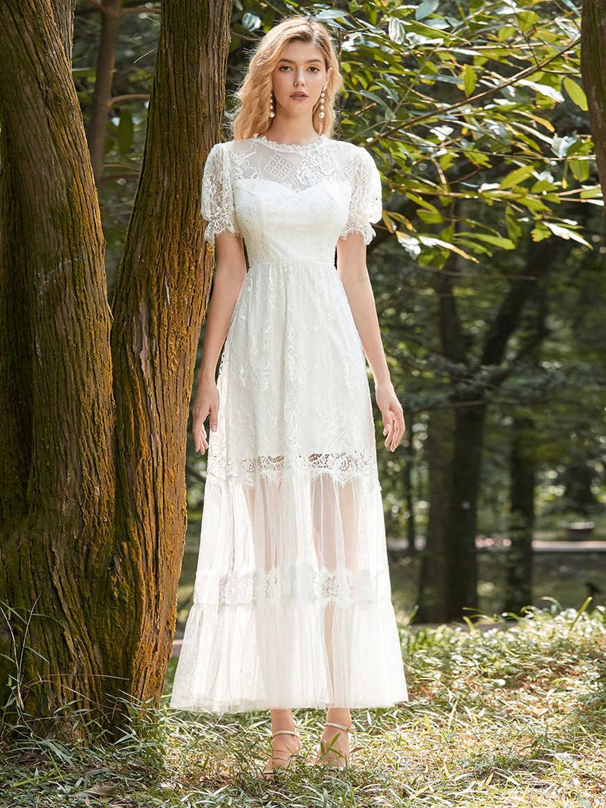Elegant Beach-Wedding-Midi-Dress