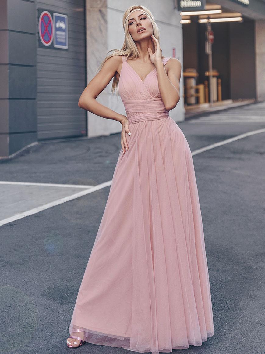 Pink-bridesmaid-dress