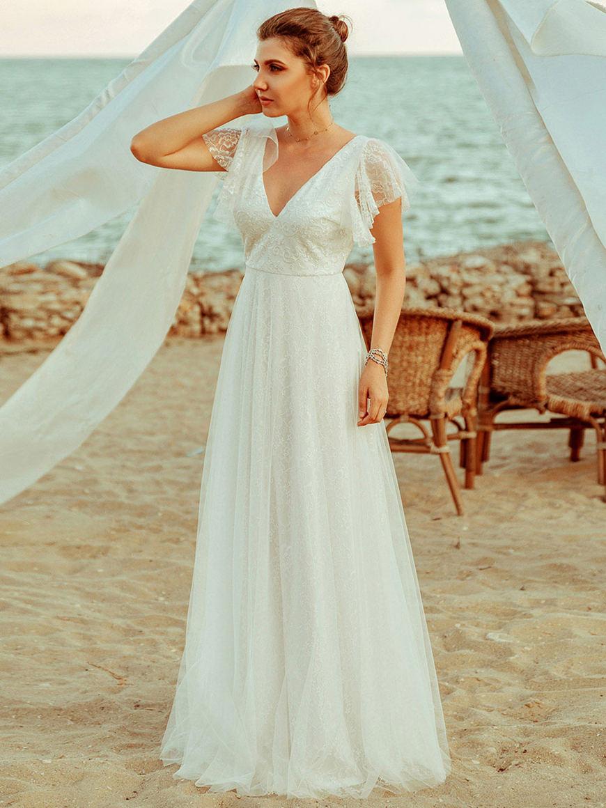 Princess-Beach-Wedding-Dress
