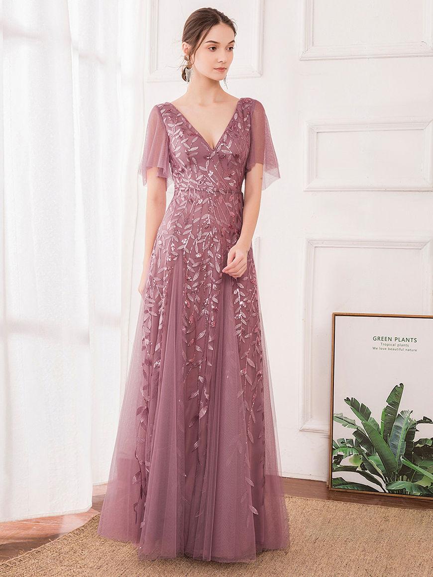Romantic-Shimmery-Evening-Dress