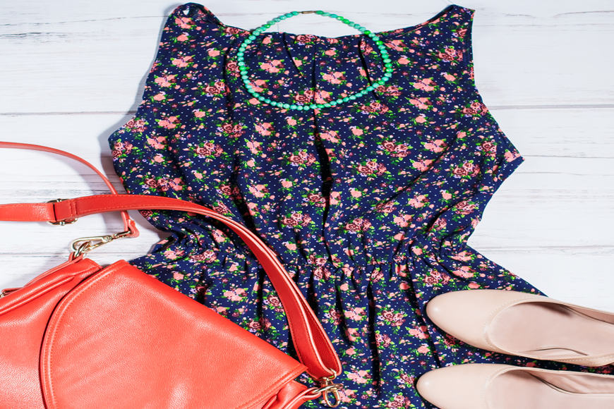 Floral-dress-with-flats