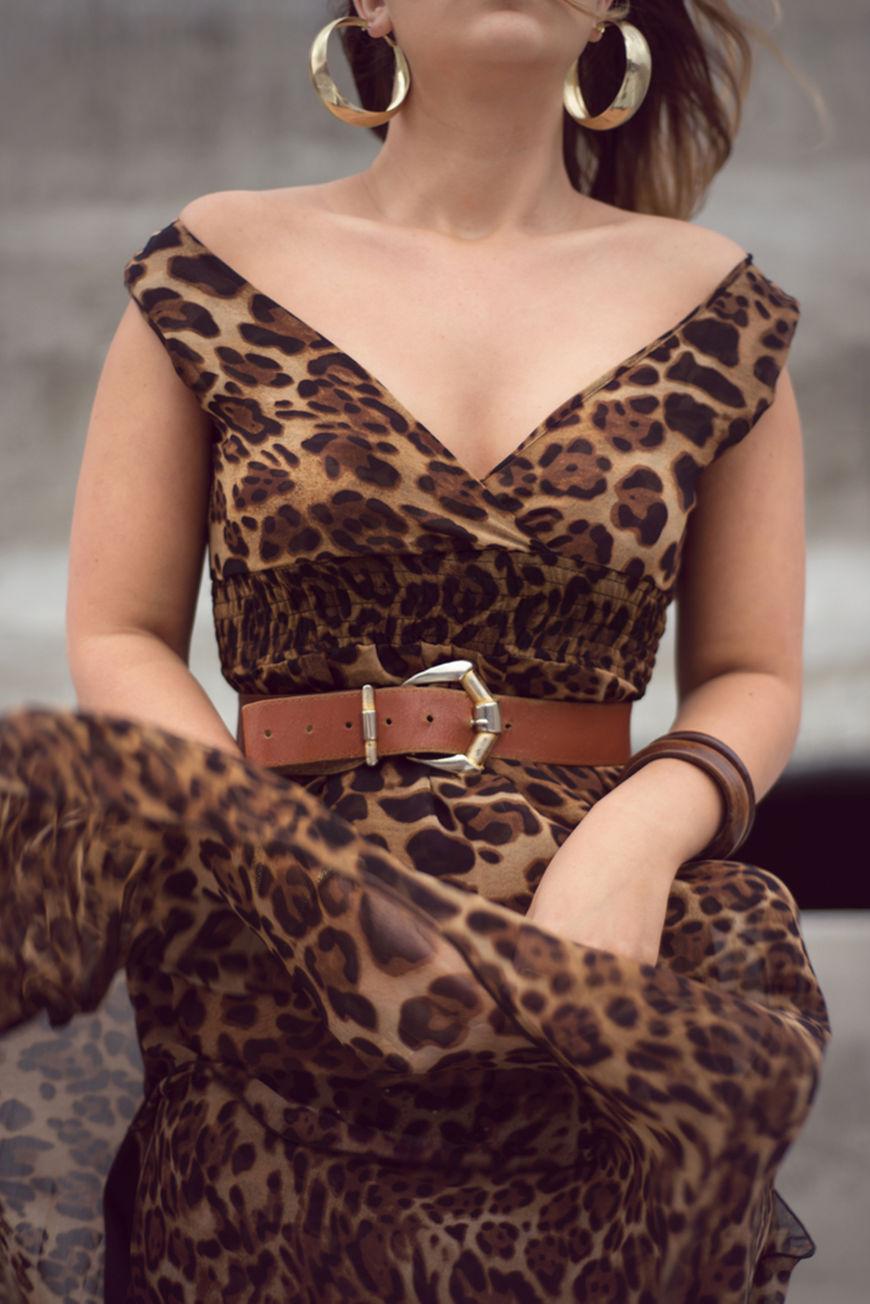Leopard-Print-Dress-with-belts