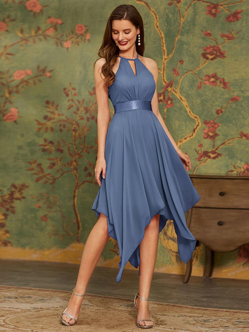 Beautiful Asymmetrical-Summer-Party-Dress