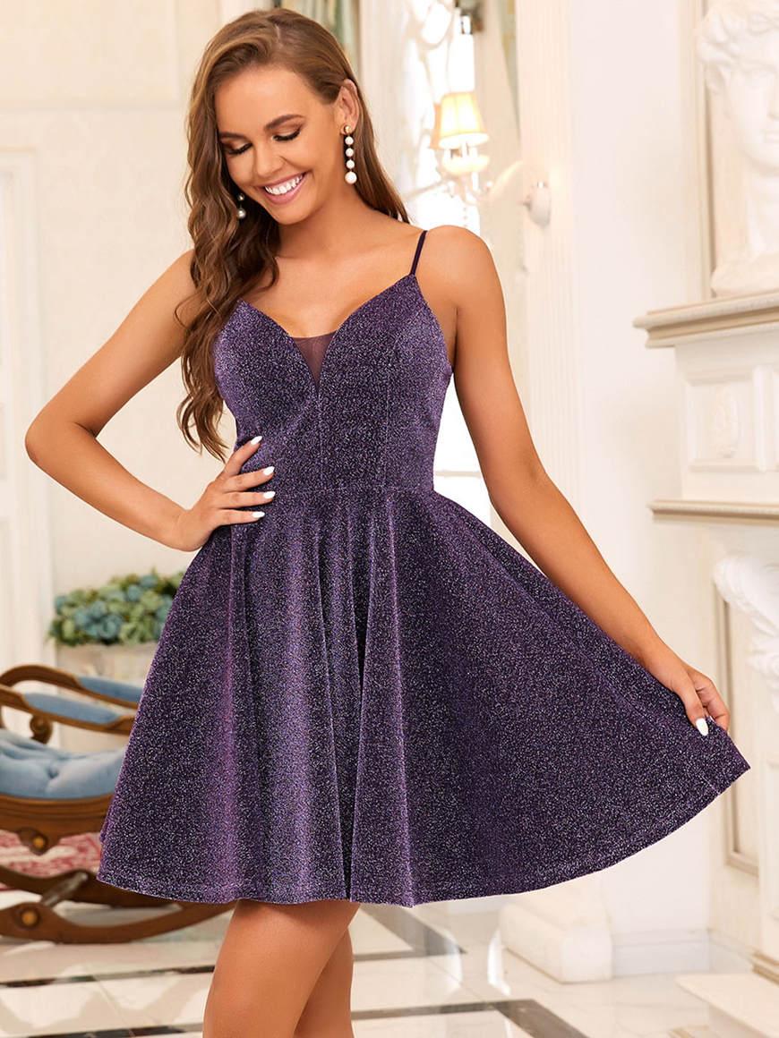 Fancy-Shiny-Above-Knee-Length-Dress