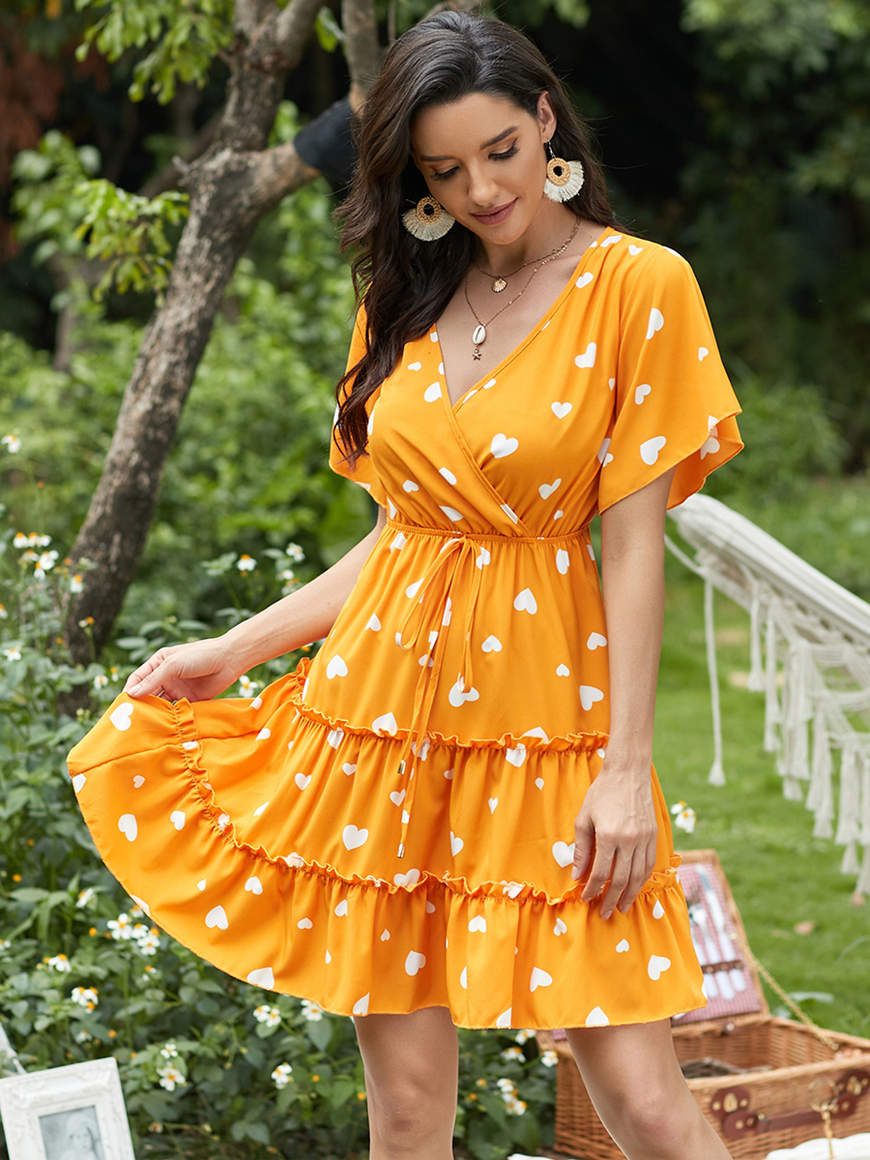 Ruffle-short-summer-dress