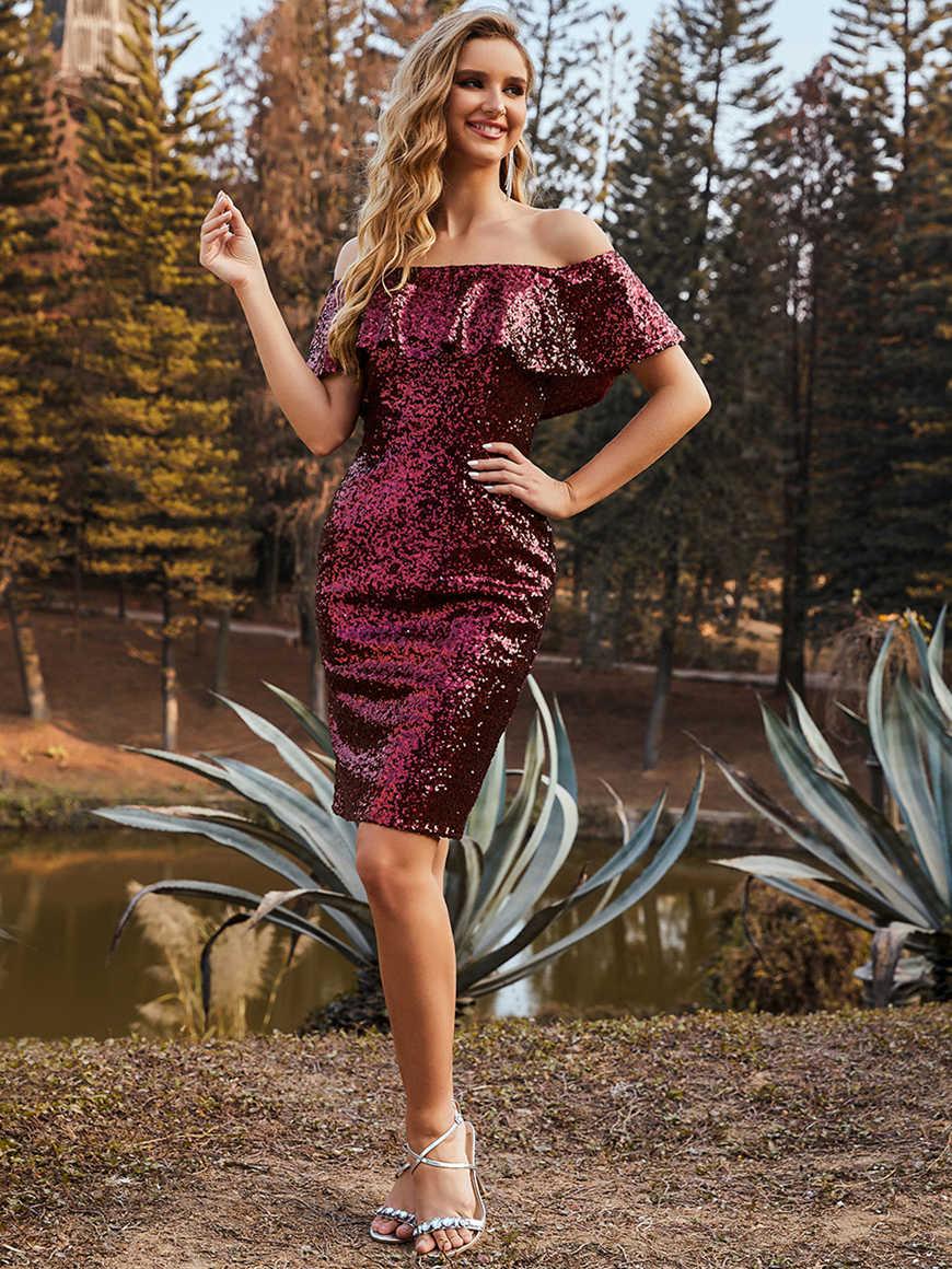 Sparkling-Off-the-Shoulder-Sequin-Above-Knee-Evening-Dress