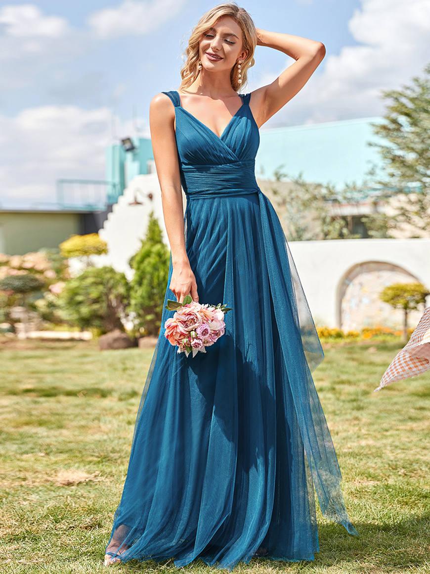 Teal-Tulle-Bridesmaid-Dress