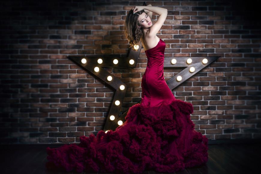 Flounce-on-a-dress